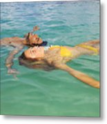 Floating Young Couple Metal Print by Tomas del Amo - Printscapes