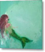Floaty Mermaid Metal Print