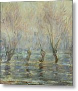 Flood In Giverny Metal Print