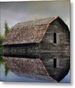 Flooded Barn Metal Print