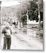 Flooded Streets Of Despair Metal Print