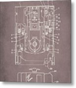 Floppy Disk Assembly Patent Drawing 1a Metal Print