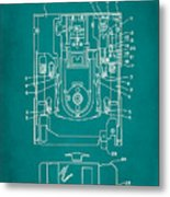 Floppy Disk Assembly Patent Drawing 1c Metal Print