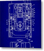 Floppy Disk Assembly Patent Drawing 1e Metal Print