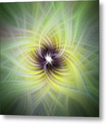 Floral Abstract Square Metal Print