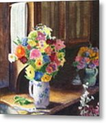 Floral Arrangements Metal Print