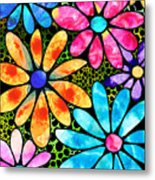 Floral Art - Big Flower Love - Sharon Cummings Metal Print