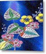 Floral Art Illustrated Metal Print