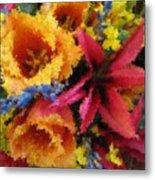 Floral Blast Metal Print