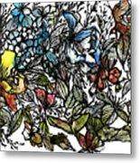 Floral Bush I Metal Print