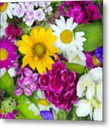 Floral Chaos Summer Collage Metal Print
