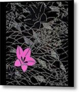 Floral Chirimen Metal Print