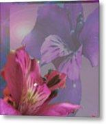 Floral Dust Metal Print