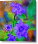Floral Expression Metal Print