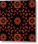 Floral Fire Tapestry Metal Print