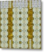 Floral Forest Of Magic And Gold Metal Print