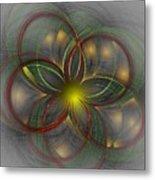 Floral Fractal 11-24-09 Metal Print