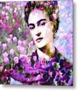 Floral Frida Vi Metal Print