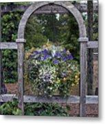 Floral Garden View Metal Print