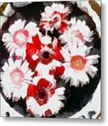 Floral Hotty Totty Metal Print