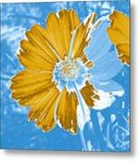 Floral Impression Metal Print