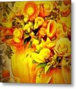 Floral In Ambiance Metal Print
