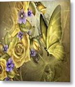 Yellow Floral Metal Print