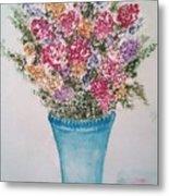 Floral Inked Metal Print