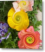 Floral Kaleidoscope Metal Print