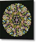 Floral Mandala Pattern Metal Print