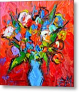 Floral Miniature - Abstract 0115 Metal Print
