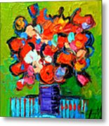 Floral Miniature - Abstract 0315 Metal Print