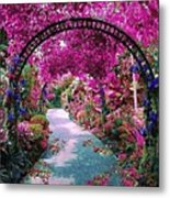 Floral Pathway Metal Print