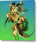 Floral Still Life Fantasy Metal Print