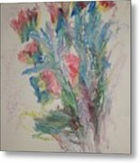 Floral Study In Pastels B Metal Print