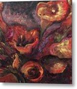 Floral Sun Worship Metal Print