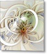 Floral Swirls Metal Print