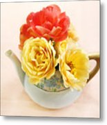 Floral Tea Metal Print