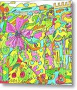 Floral World Metal Print