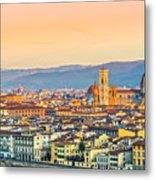 Florence At Sunrise - Tuscany - Italy Metal Print