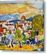 Florence From A Hill Metal Print