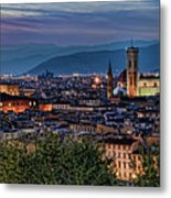 Florence In The Evening Metal Print