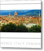 Florence, Italy Panoramic Poster Metal Print