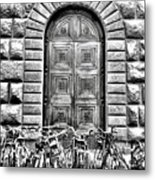 Florence Street Scene Metal Print