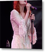 Florence Welch Singer Of Florence And The Machine Performing Live - 002 Metal Print
