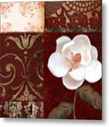 Flores Blancas Square I Metal Print