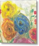 Flores Metal Print