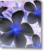 Florescent Flowers Metal Print