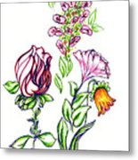 Florets Metal Print