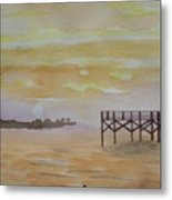 Florida And Its Nature Coast On The Gulf  Metal Print